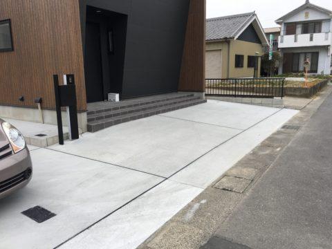 西尾市の駐車場の施工事例