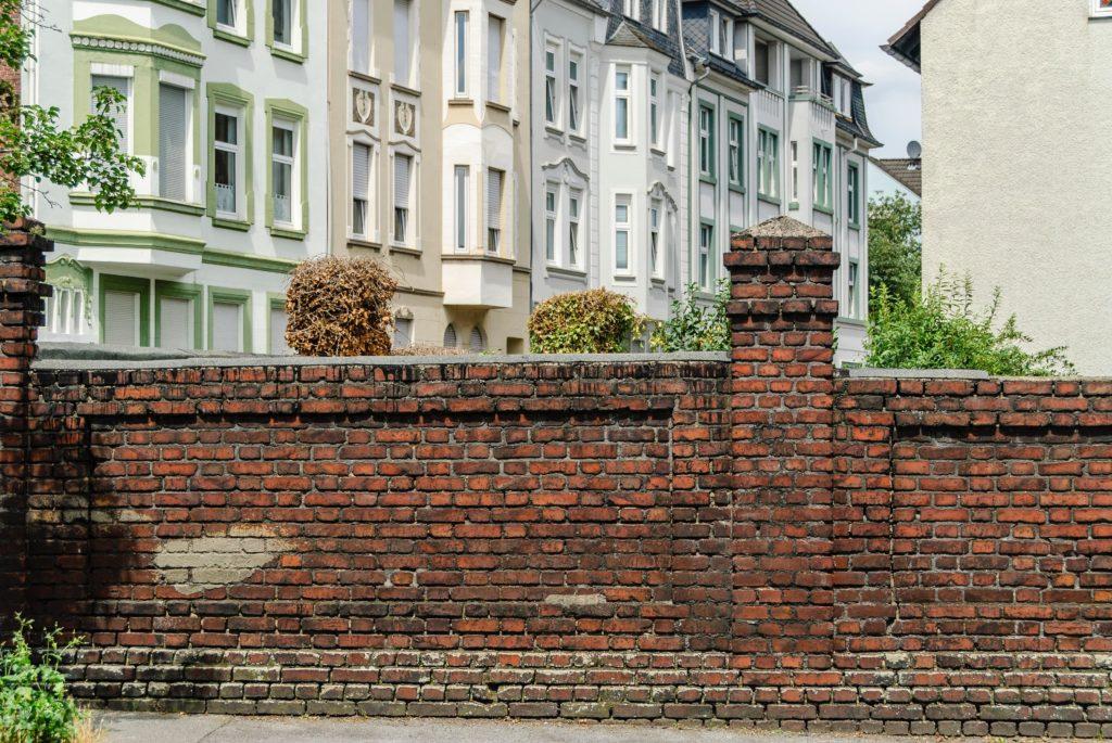 洋風のおしゃれなブロック塀