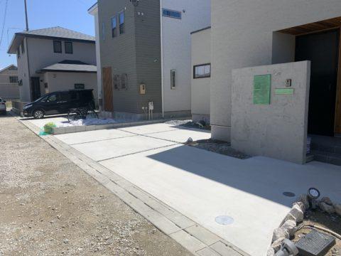 清須市の駐車場施工
