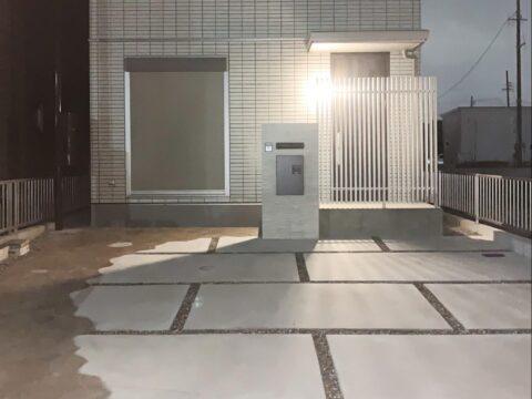 あま市のフェンス・土間・アプローチ・門壁・宅配ボックス・庭の施工事例