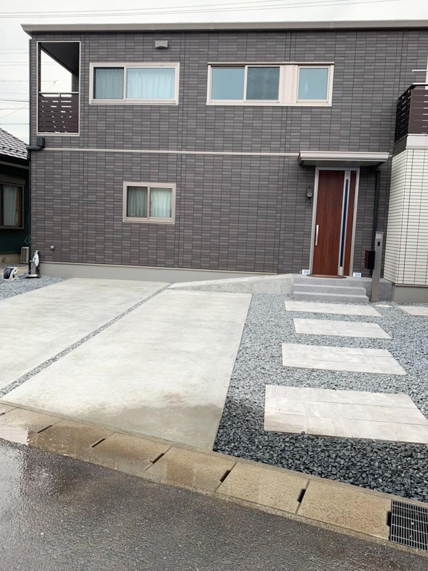 一宮市の門まわり・駐車場・アプローチの施工事例