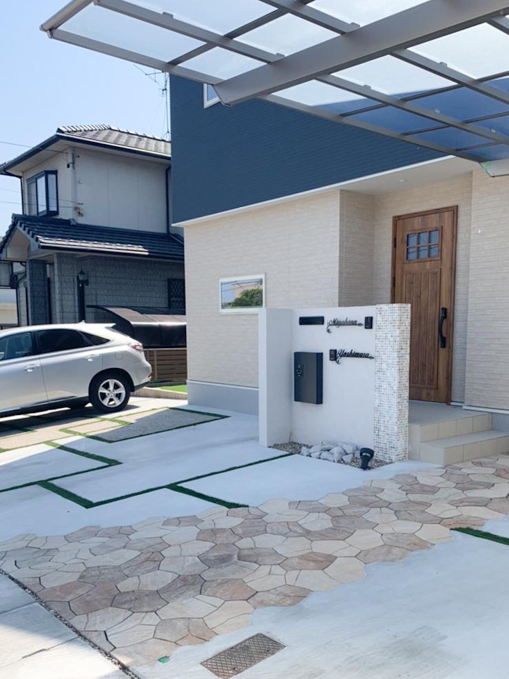 名古屋市緑区のアプローチ・駐車場・庭・フェンス・門まわりの施工事例