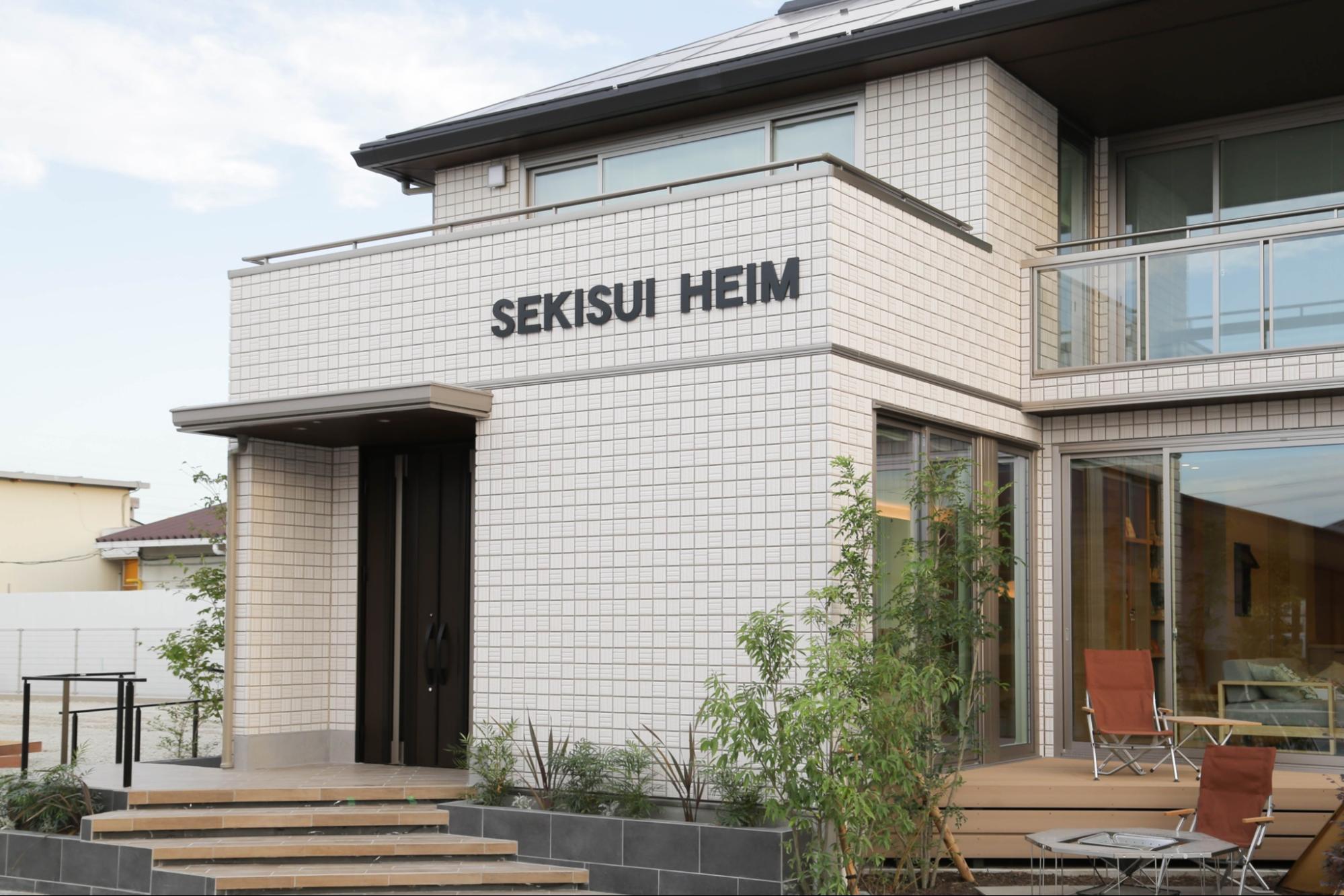 中京テレビハウジングセンター セキスイハイム展示場のエクステリア施工