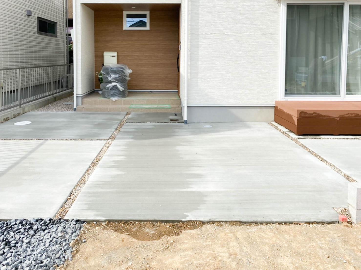 豊田市のウッドデッキ・土間・玄関の施工事例1